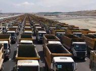 Üçüncü havalimanında 1453 kamyon ile rekor denemesi