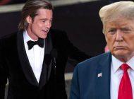 Ödül töreninde Brad Pitt'den Trump'a gönderme